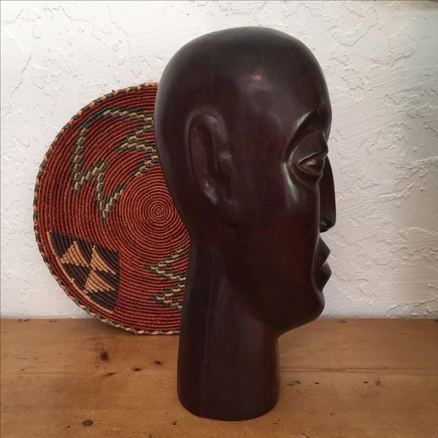Vintage Hand Carved Ironwood Bust Sculpture For Sale - Image 4 of 9