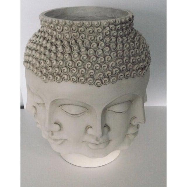 Contemporary Fornasetti Dora Maar Style Multi Face Asian Buddha Planter / Vase For Sale - Image 3 of 12