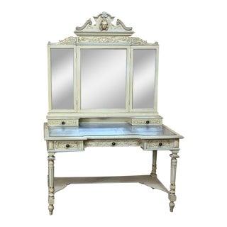 Antique Italian Louis XVI Painted Vanity For Sale
