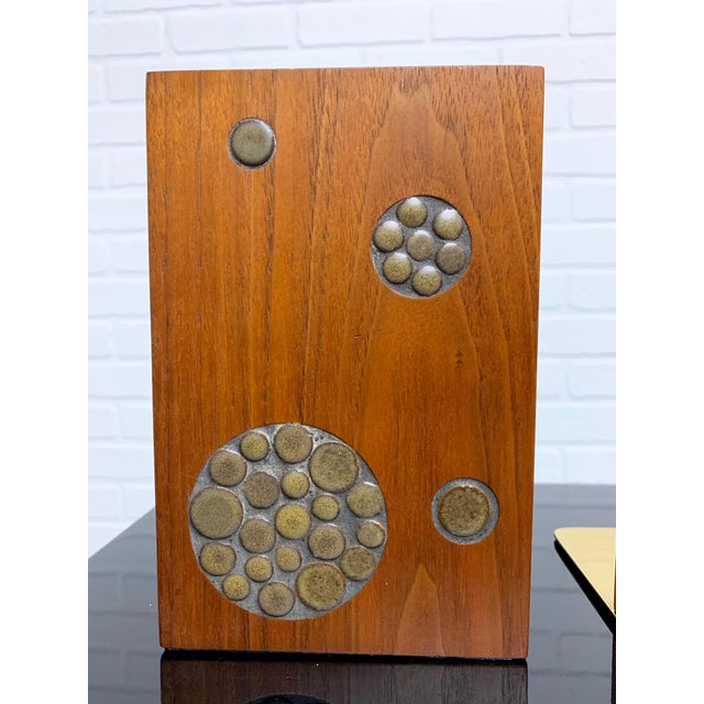 Gordon & Jane Martz for Marshall Studios Walnut and Tile Bookends For Sale In Dallas - Image 6 of 10