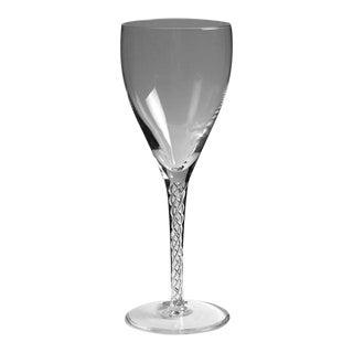 Stuart Crystal Iona Air Twist Stem Large Wine Glass For Sale