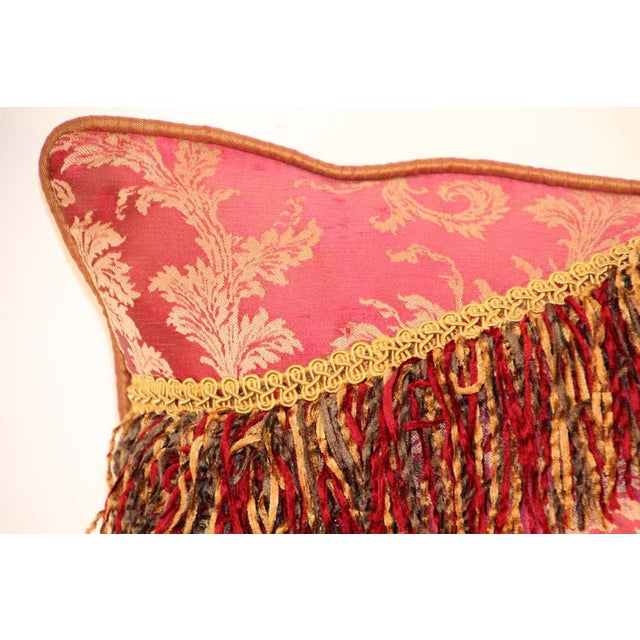 Middle Eastern Decorative Red Throw Pillow For Sale - Image 4 of 11