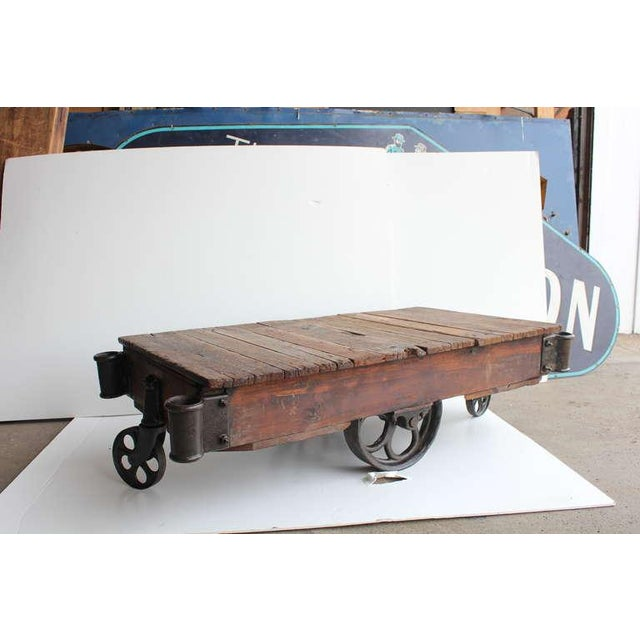 American Industrial Cart Coffee Table, 20 Available - Image 5 of 5