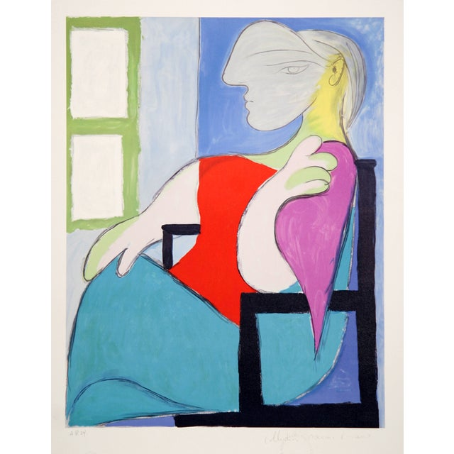 "Pablo Picasso ""Femme Assise"" Lithograph For Sale"
