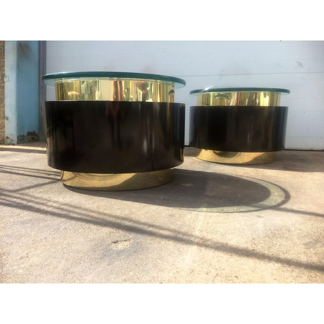 Gold & Black Tables - A Pair For Sale In Philadelphia - Image 6 of 9