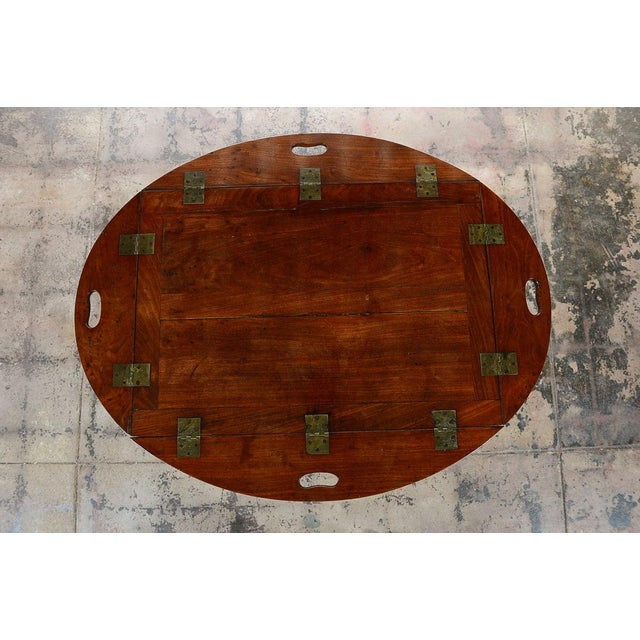 18th C. Georgian Mahogany Butler's Tray Table For Sale - Image 4 of 8