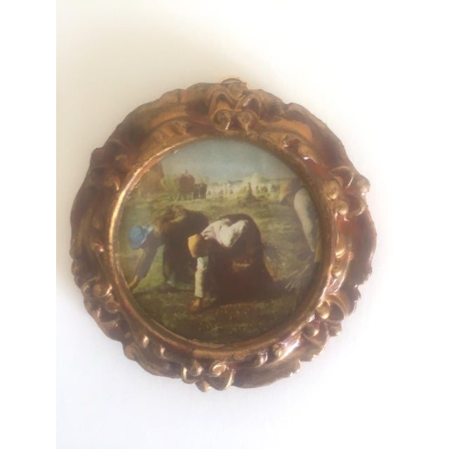 Vintage Mid-Century Florentine Gilt Framed Art Pieces- Set of 5 For Sale - Image 5 of 9