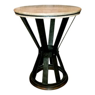 Jonathan Charles Iron Round Marble Table