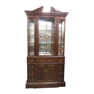 Georgian Style Carved China Cabinet