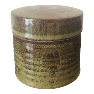 Mustard Glaze Studio Pottery Lidded Box
