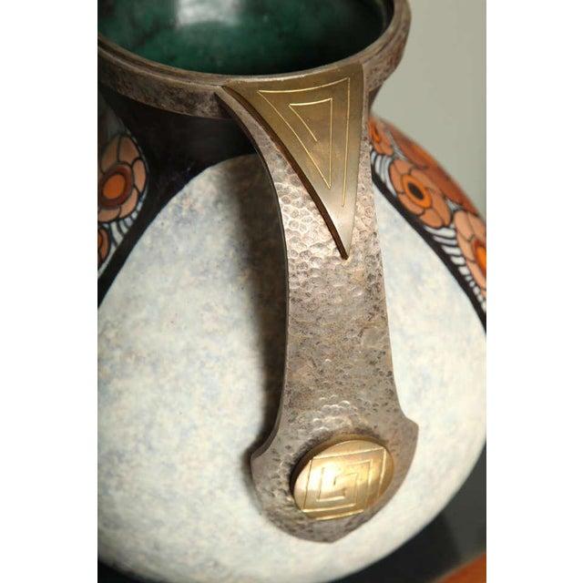 Art Deco Art Deco Pottery Amphora Vase by Louis Dage For Sale - Image 3 of 10