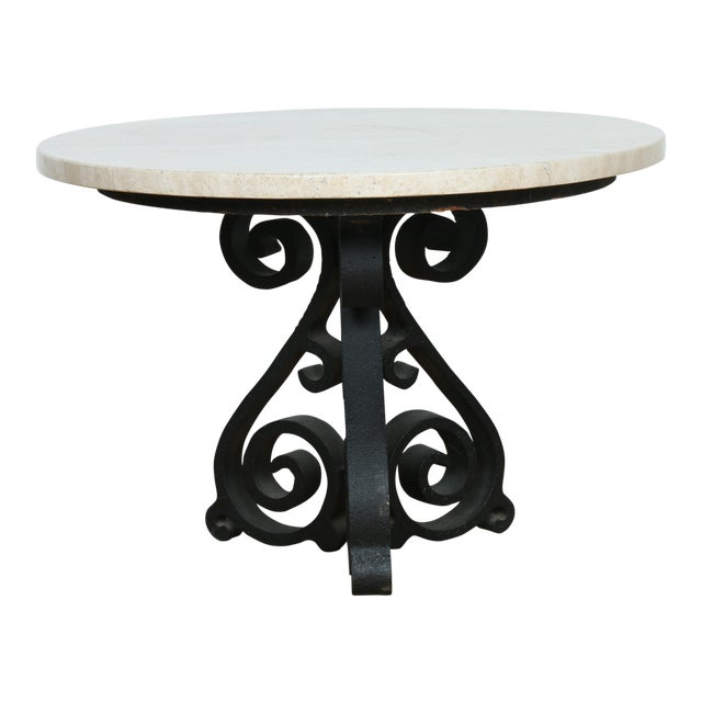Wrought Iron Small Side Table - Image 1 of 11