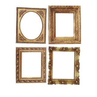 Collection Antique Gilt Gessp Frames S/4 Ornate Gold Antique Frames French Style Gilt Frames For Sale