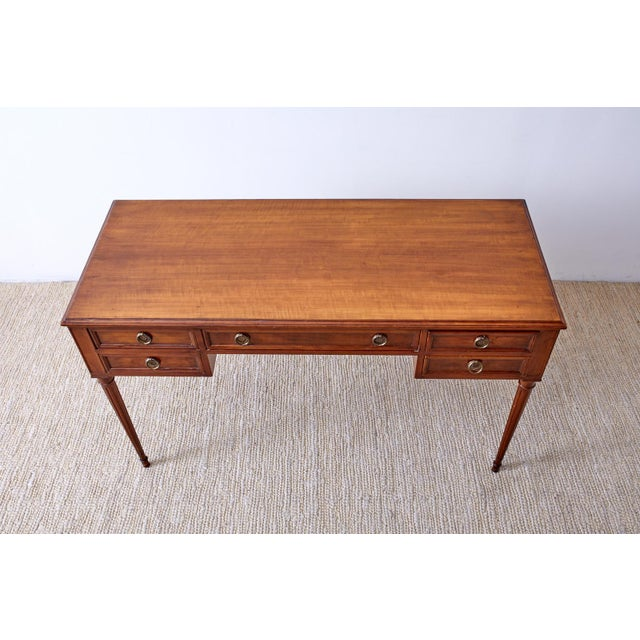 French Louis XVI Style Mahogany Ladies Writing Table For Sale - Image 4 of 13