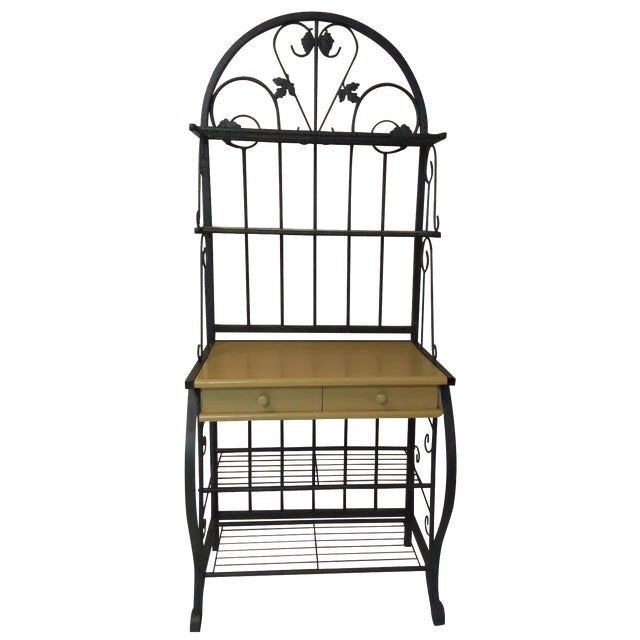 Metal Baking Rack with Grapevine Motif - Image 1 of 5