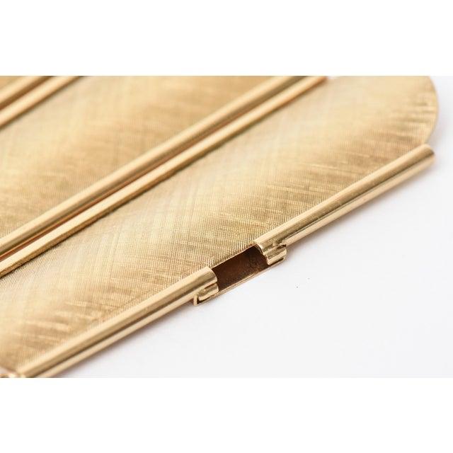 Gold Napier Modern Gold Tone Cuff Bracelet For Sale - Image 8 of 11
