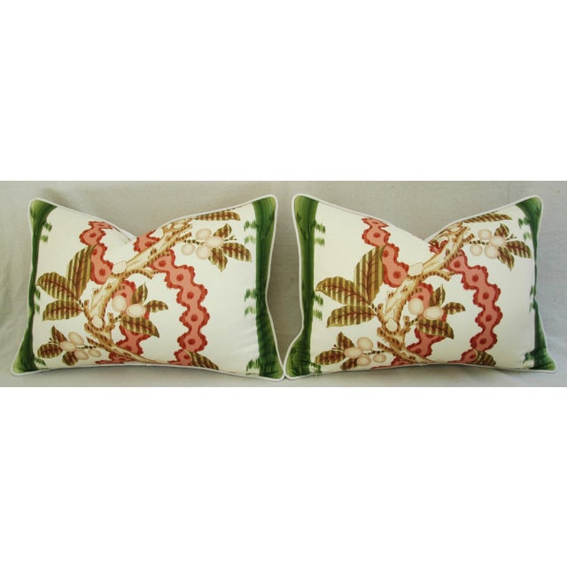 "Brunschwig & Fils Josselin Feather/Down Pillows 26"" X 18"" - Pair For Sale In Los Angeles - Image 6 of 10"