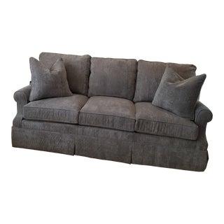 Kravet Upholstered Light Grey Sofa For Sale