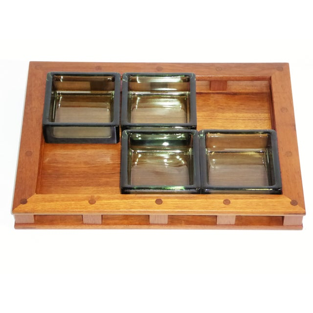 Dansk IHQ Modern Teak Tray with Glass Inserts, Quistgaard, Denmark For Sale - Image 11 of 13