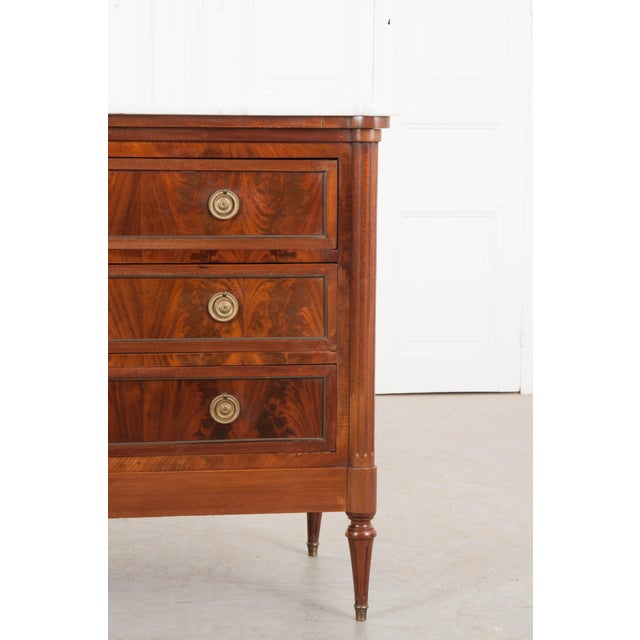 French 19th Century Louis XVI-Style Mahogany Commode For Sale In Baton Rouge - Image 6 of 11