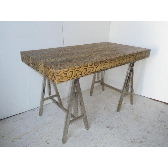 Modern Snake Skin Writing Desk For Sale - Image 10 of 10