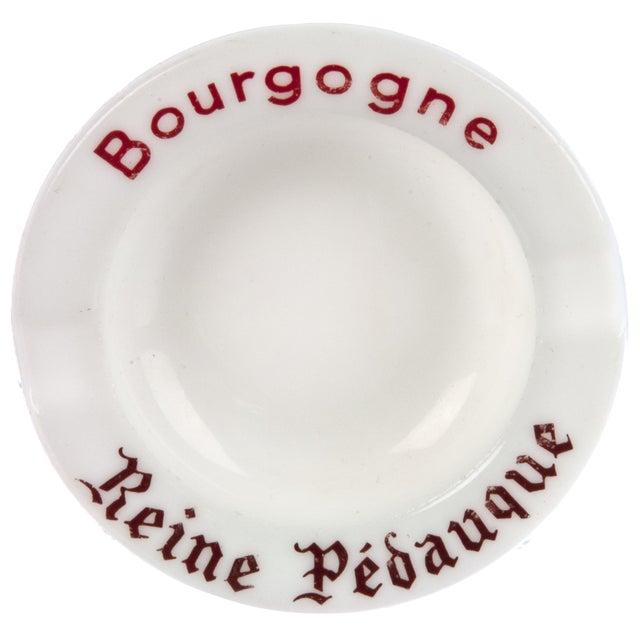 Vintage French Bourgogne Milk Glass Ashtray For Sale
