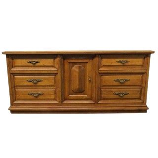 20th Century Traditional Kent Coffey Retro Tierra Collection Spanish Revival Dresser For Sale