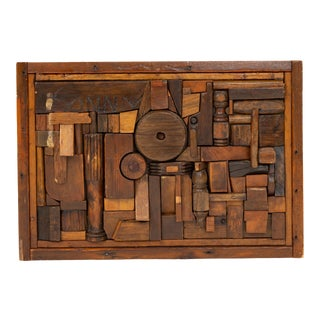 """Woodblock Assemblage """"Sonny"""" by Francis Schanz For Sale"""