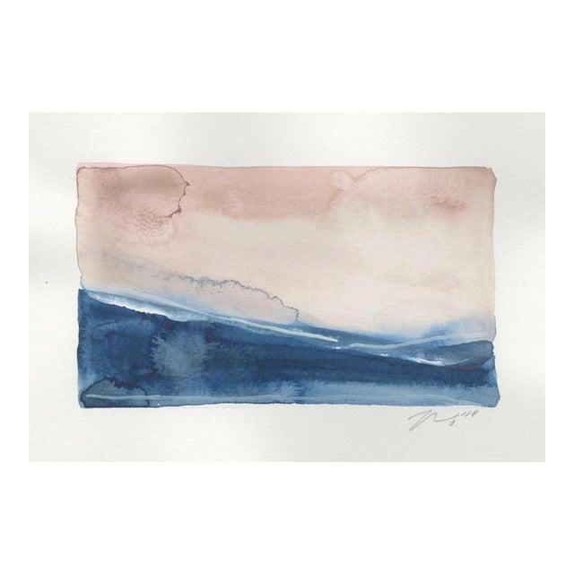 """Sea Land Sky II"" Watercolor Giclee Print For Sale"