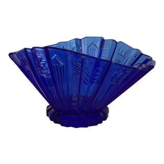 1930s L.E. Smith Art Deco Glass Bowl For Sale