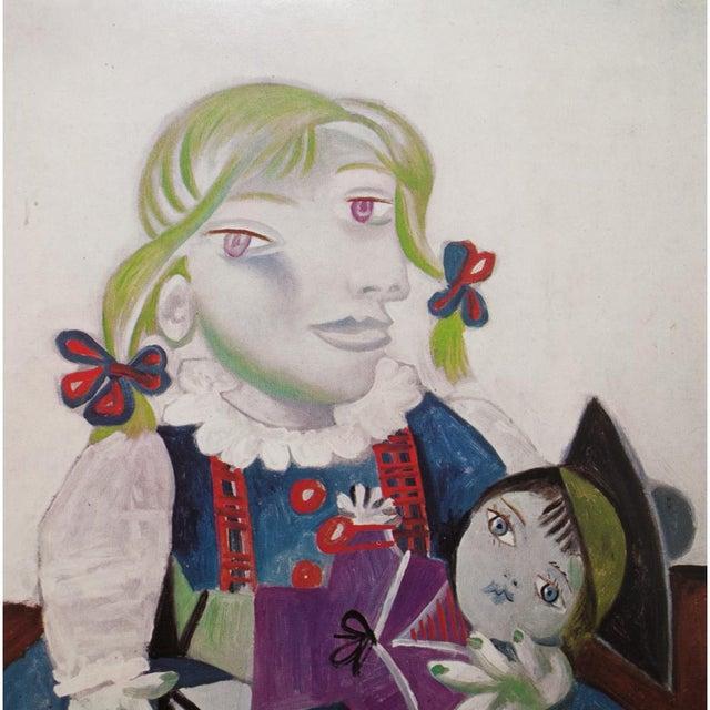 Abstract Picasso Portrait De Maya à La Poupée, 1971 Parisian Photogravure For Sale - Image 3 of 9