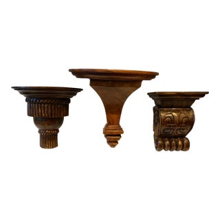 Collection of Hand-Carved Brackets For Sale