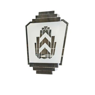 Classic Vintage Art Deco Mirrored St. James Club Wall Sconce For Sale