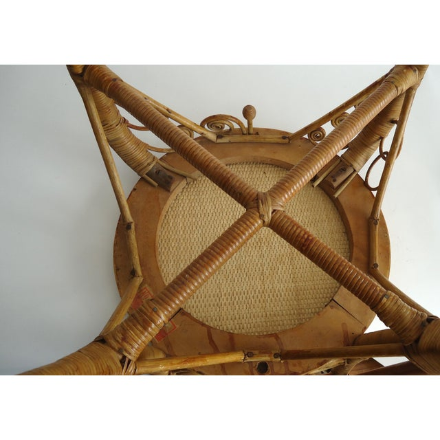 Late 19th Century Vintage Heywood Wakefield Victorian Wicker Photographer's Chair For Sale - Image 10 of 12
