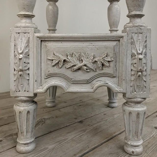 Gray 19th Century French Louis XVI Painted Pedestal For Sale - Image 8 of 13