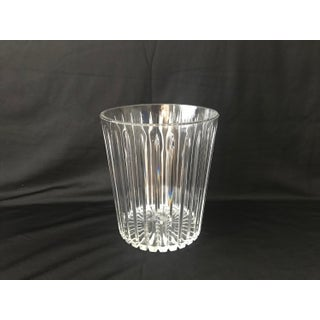 Vintage Sally Designs Acrylic Lucite Textured Waste Basket Preview