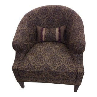 """""""Hickory"""" Purple and Gold Design Club Chair For Sale"""
