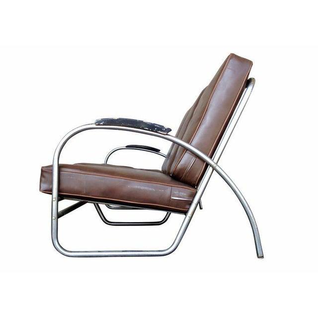Art Deco Wolfgang Hoffmann Style Chrome Tublar Sofa by Royal Metal For Sale - Image 3 of 9