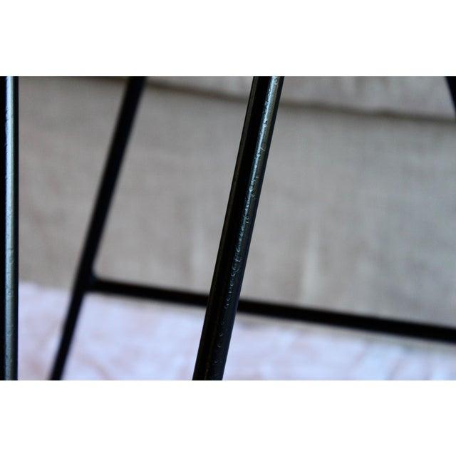 Mid Century Modern Italian Wrought Iron Adjustable Height Bar Stools Arthur Umanoff Style- a Pair For Sale - Image 9 of 11