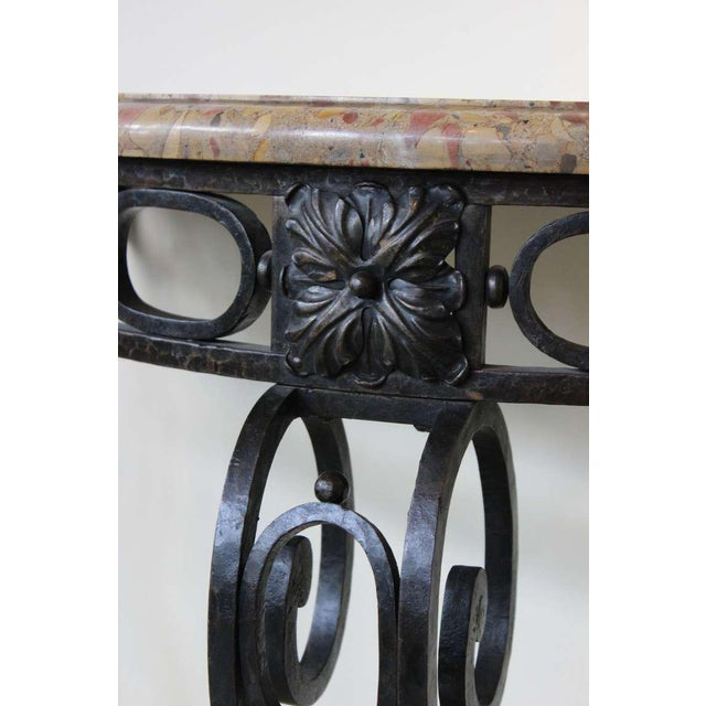 French Iron Console - Image 5 of 11