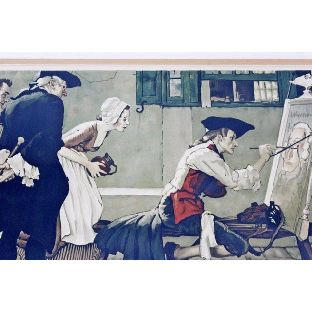 1930s 20th Century Framed Modern Illustration A.P. Litho Signed Norman Rockwell, 1936 For Sale - Image 5 of 11