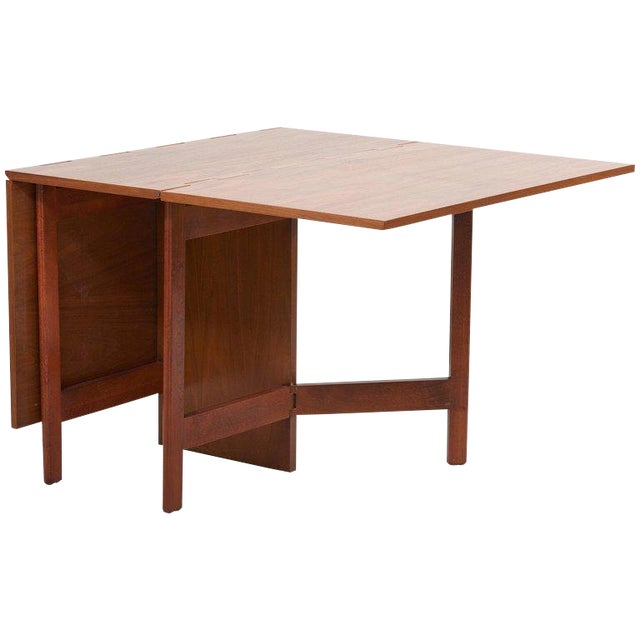 George Nelson Gate-Leg Dining Table Model 4656 by Herman Miller in Walnut For Sale