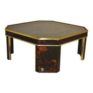 1970s French Mid-Century Modern Coffee Table by ''Sign Jean Claude Mahey '' For Sale