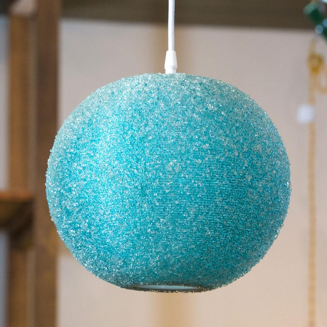 Modern Textured Globe-Shaped Light For Sale - Image 4 of 6