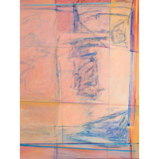 Large Abstract Oil by Cynthia Mollod, Dated 1975 For Sale - Image 4 of 8