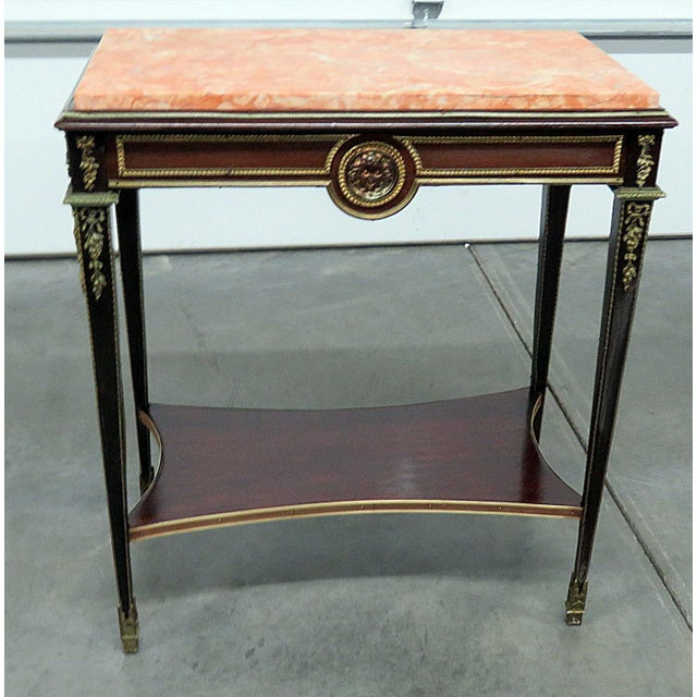 Regency Style Marble Top Desk Attr Forest For Sale In Philadelphia - Image 6 of 6