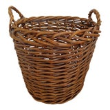 Image of Hand-Woven Rattan Basket For Sale