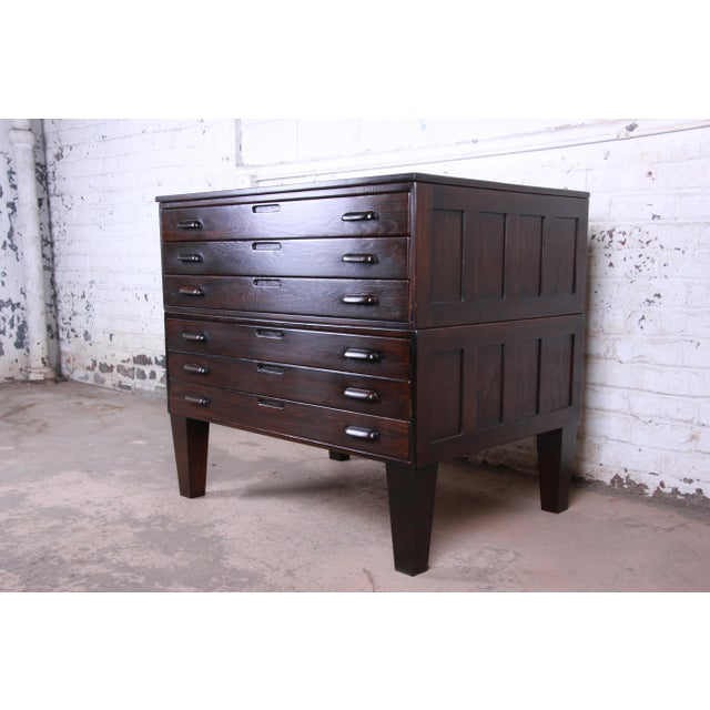 Offering a unique architect's blueprint or map flat file. The file is made from solid oak and has beautiful wood grain. It...