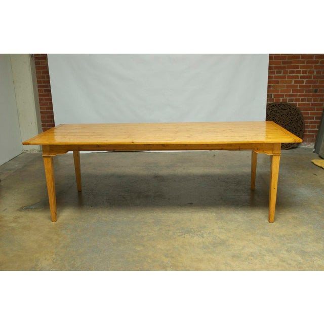 Italian Pine Farm Dining Table - Image 2 of 11