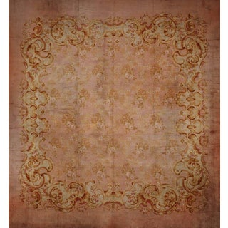 Antique European Savonarie Rug - 17' x 17' For Sale